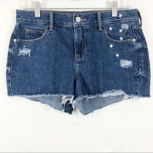 🎉 Old Navy High Rise Embroidered Star Jean Shorts
